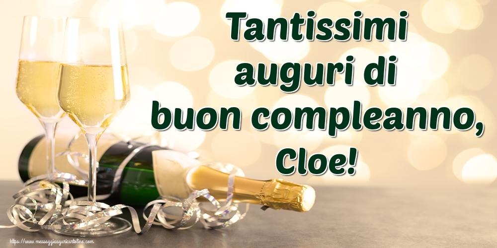 Cartoline di auguri - Tantissimi auguri di buon compleanno, Cloe!