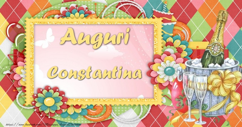 Cartoline di auguri - Auguri Constantina