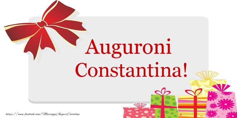 Cartoline di auguri - Auguroni Constantina!