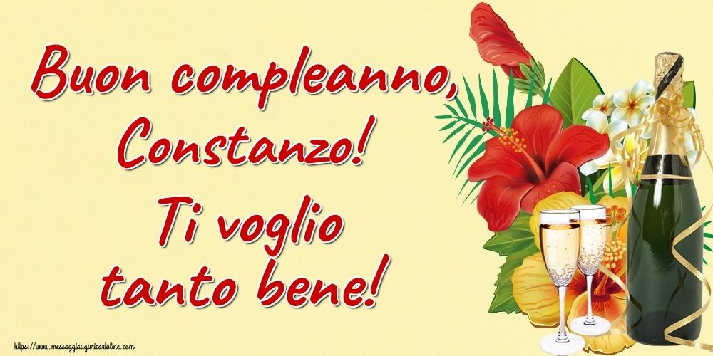 Cartoline di auguri - Buon compleanno, Constanzo! Ti voglio tanto bene!