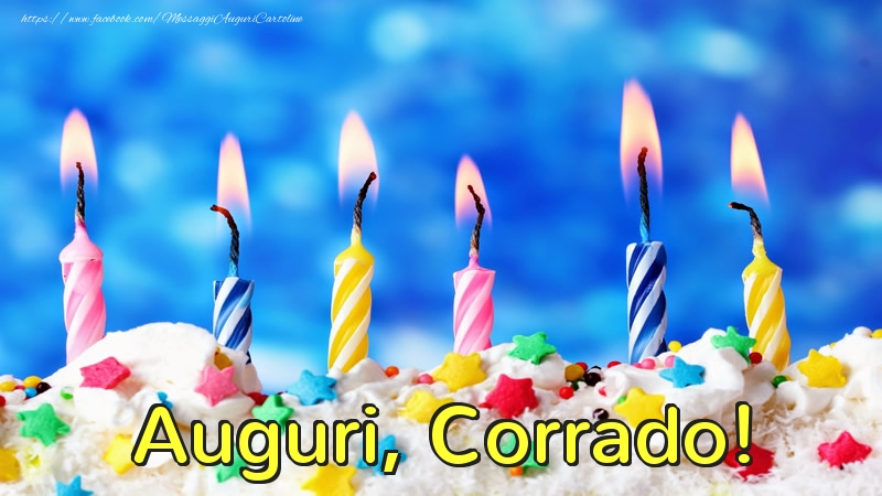 Cartoline di auguri - Auguri, Corrado!