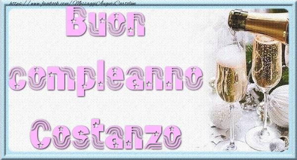 Cartoline di auguri - Buon compleanno Costanzo