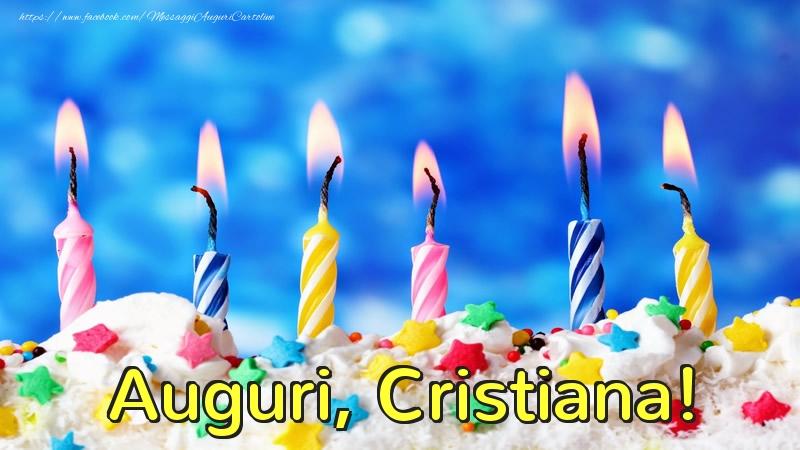 Cartoline di auguri - Auguri, Cristiana!