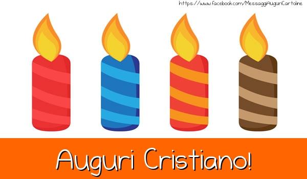 Cartoline di auguri - Auguri Cristiano!