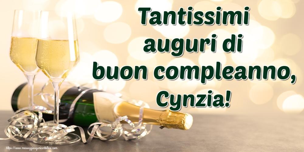 Cartoline di auguri - Tantissimi auguri di buon compleanno, Cynzia!