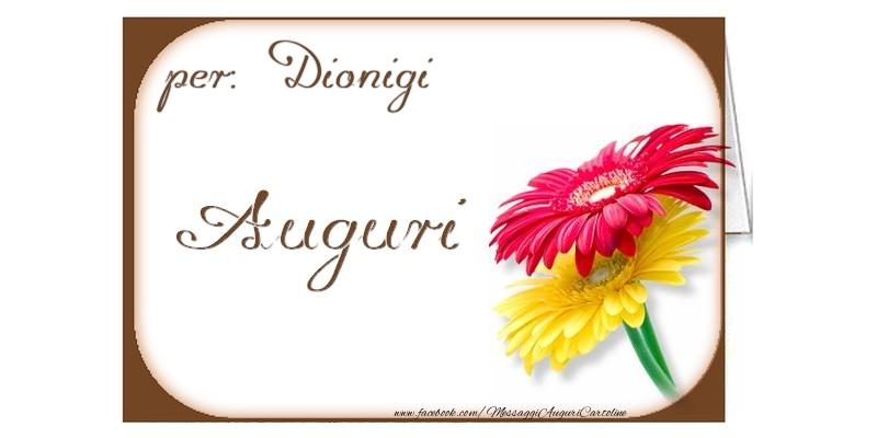 Cartoline di auguri - Auguri, Dionigi