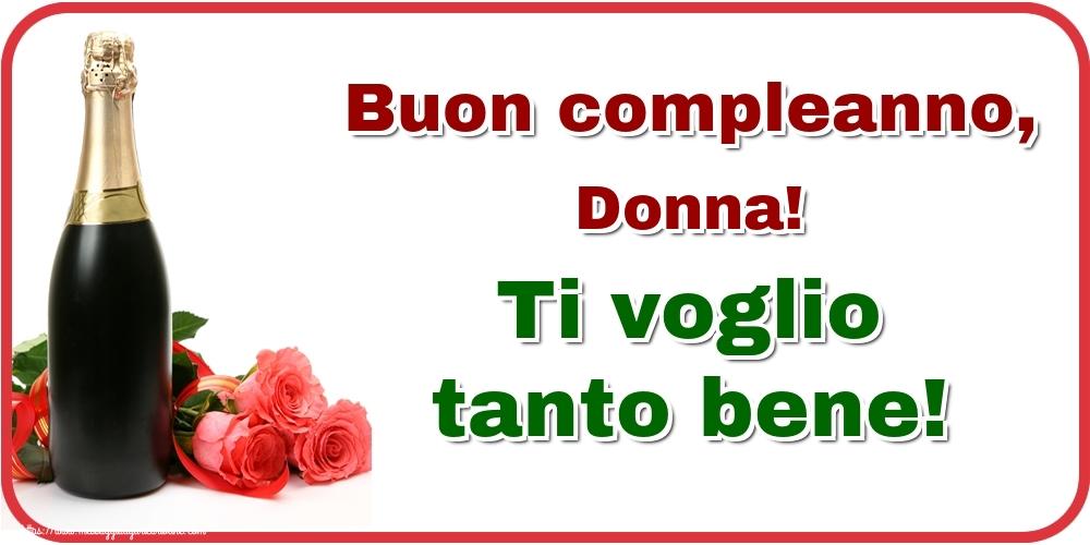 Cartoline di auguri - Buon compleanno, Donna! Ti voglio tanto bene!