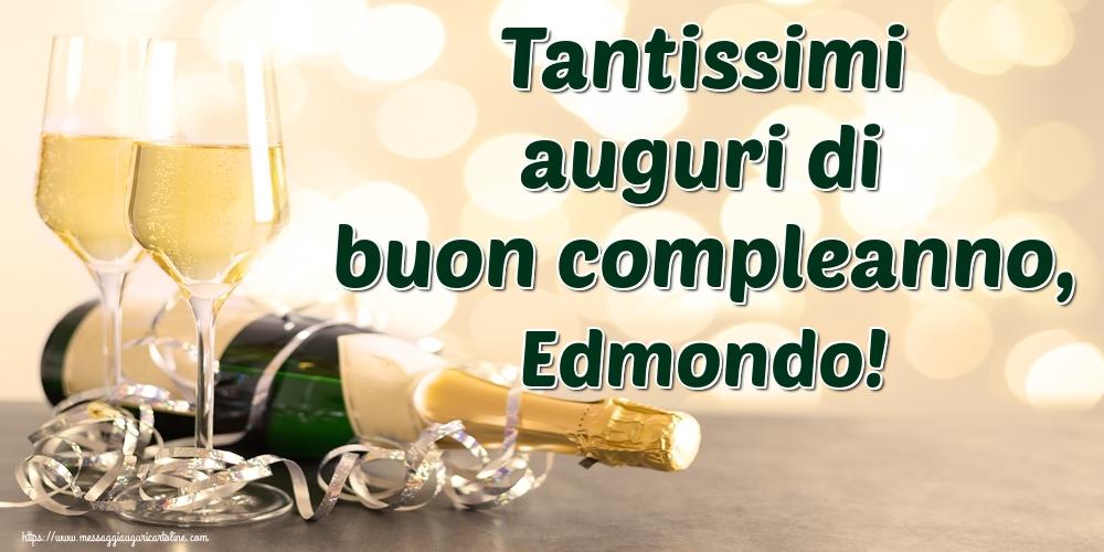 Cartoline di auguri - Tantissimi auguri di buon compleanno, Edmondo!