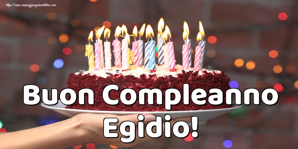 Cartoline di auguri - Buon Compleanno Egidio!