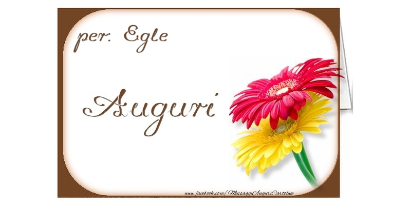 Cartoline di auguri - Auguri, Egle
