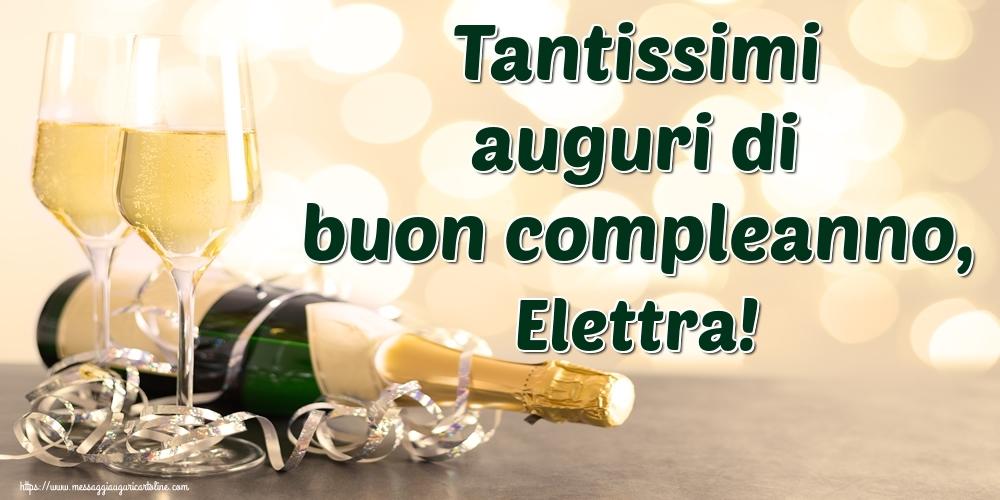 Cartoline di auguri - Tantissimi auguri di buon compleanno, Elettra!