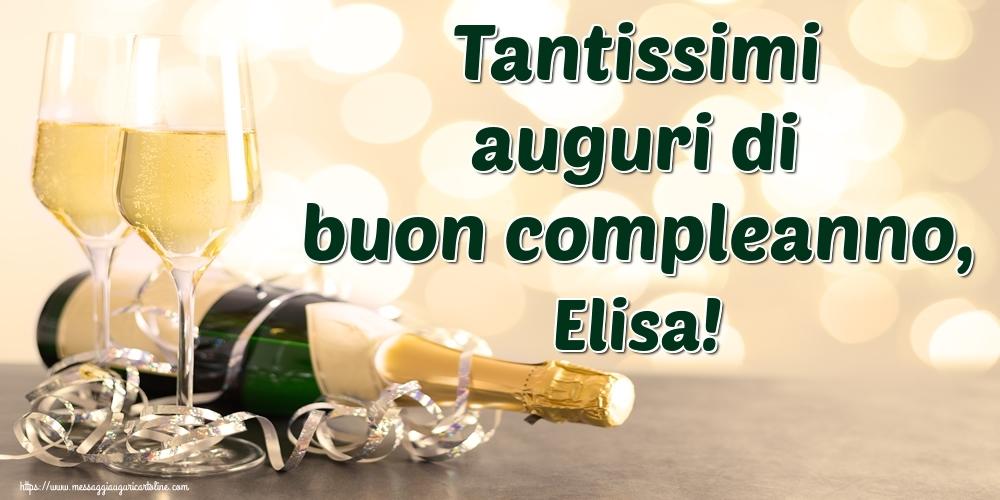 Cartoline di auguri - Tantissimi auguri di buon compleanno, Elisa!