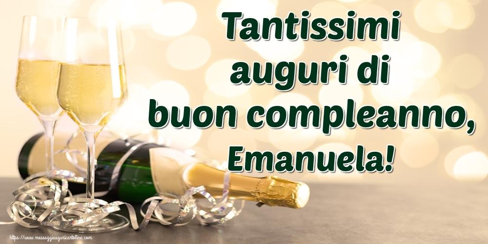 Cartoline di auguri - Tantissimi auguri di buon compleanno, Emanuela!