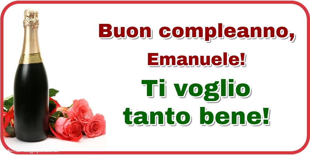 Cartoline di auguri - Buon compleanno, Emanuele! Ti voglio tanto bene!