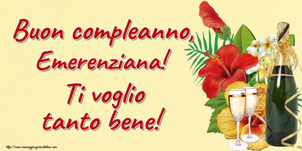 Cartoline di auguri - Buon compleanno, Emerenziana! Ti voglio tanto bene!