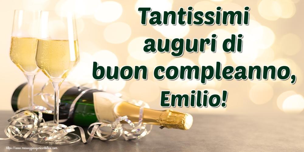 Cartoline di auguri - Tantissimi auguri di buon compleanno, Emilio!