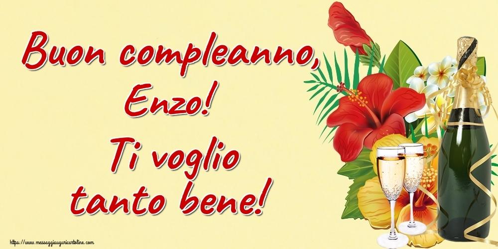 Cartoline di auguri - Buon compleanno, Enzo! Ti voglio tanto bene!