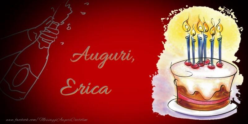 Cartoline di auguri - Auguri, Erica