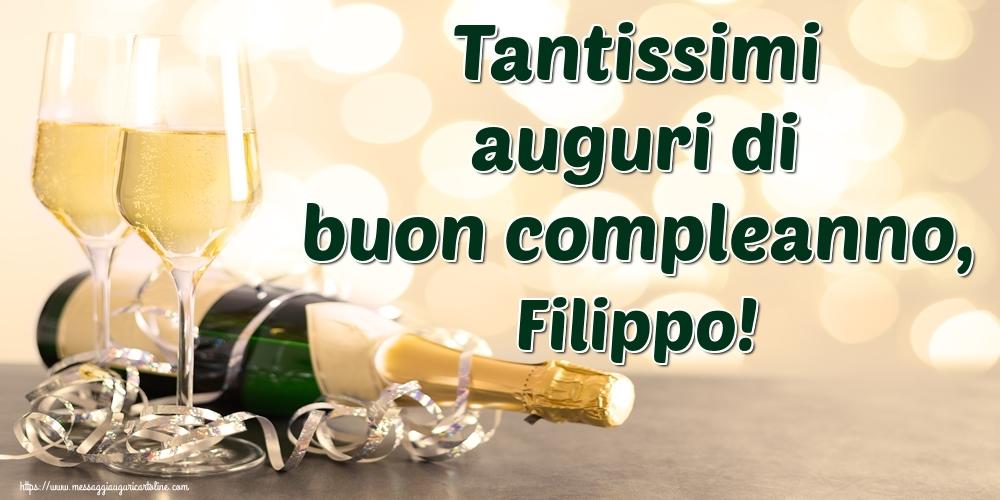 Cartoline di auguri - Tantissimi auguri di buon compleanno, Filippo!