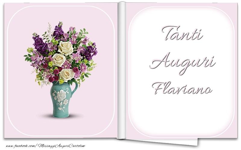 Cartoline di auguri - Tanti Auguri Flaviano