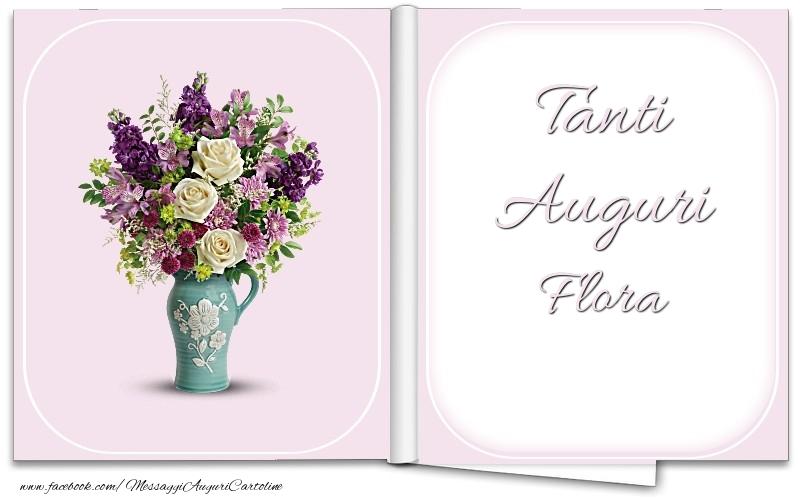 Cartoline di auguri - Tanti Auguri Flora