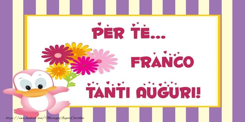 Buon compleanno franco cartoline di auguri per franco for Cartoline per auguri