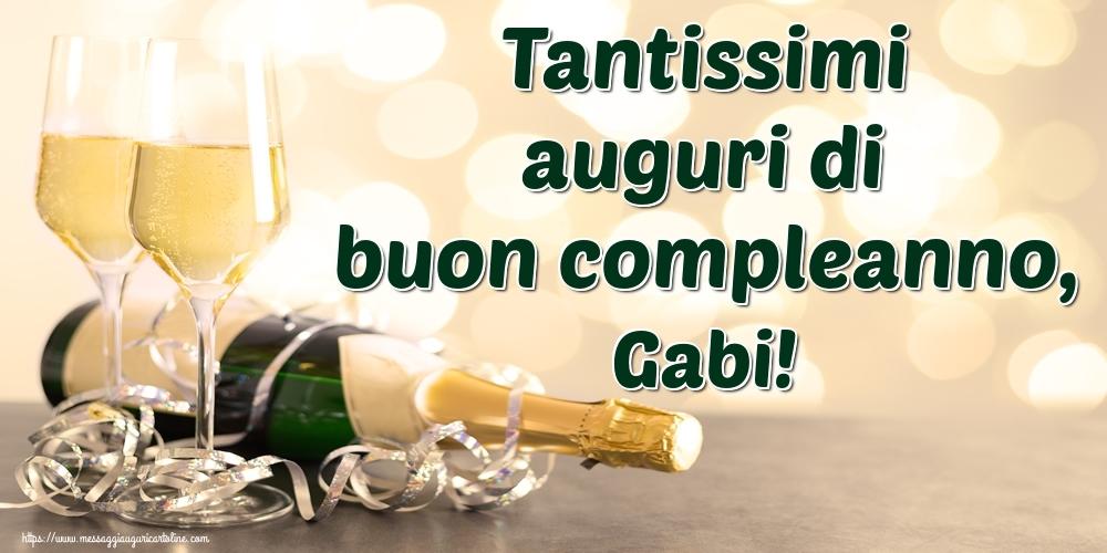 Cartoline di auguri - Tantissimi auguri di buon compleanno, Gabi!