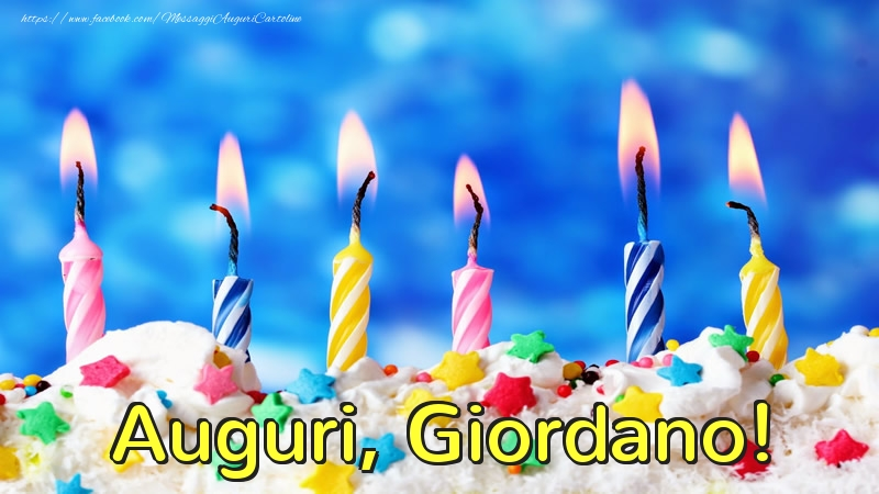 Cartoline di auguri - Auguri, Giordano!