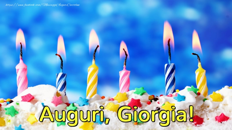 Cartoline di auguri - Auguri, Giorgia!
