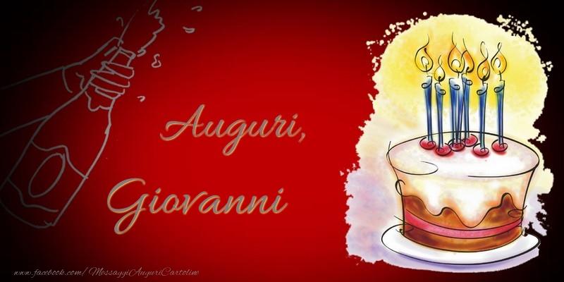 Cartoline di auguri - Auguri, Giovanni