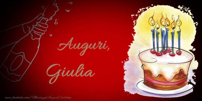 Cartoline di auguri - Auguri, Giulia