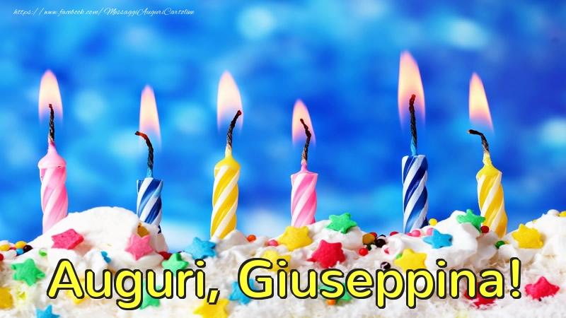Cartoline di auguri - Auguri, Giuseppina!