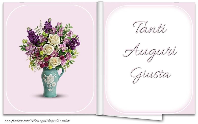 Cartoline di auguri - Tanti Auguri Giusta