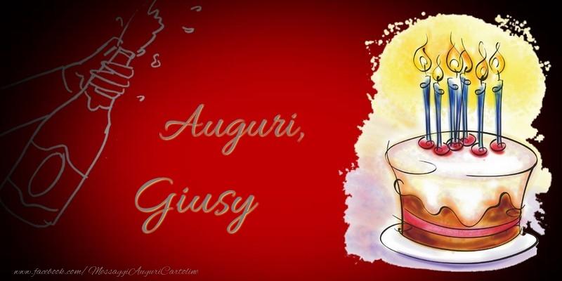 Cartoline di auguri - Auguri, Giusy