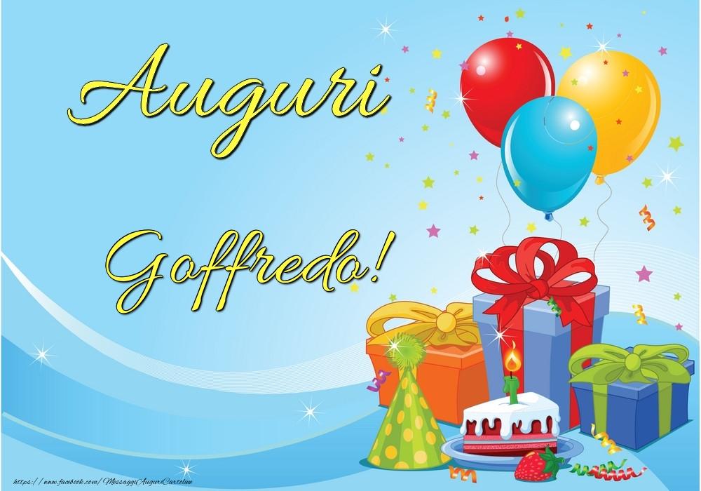 Cartoline di auguri - Auguri Goffredo!
