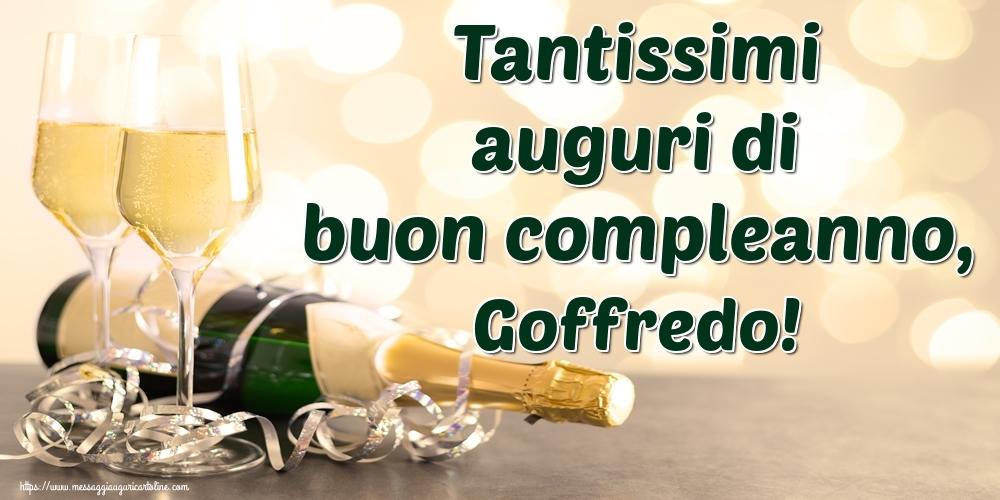 Cartoline di auguri - Tantissimi auguri di buon compleanno, Goffredo!