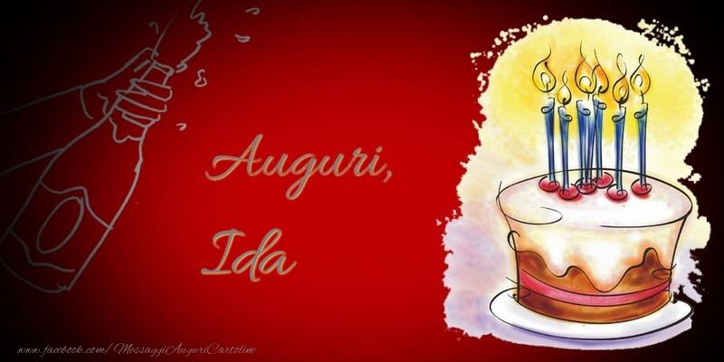 Cartoline di auguri - Auguri, Ida