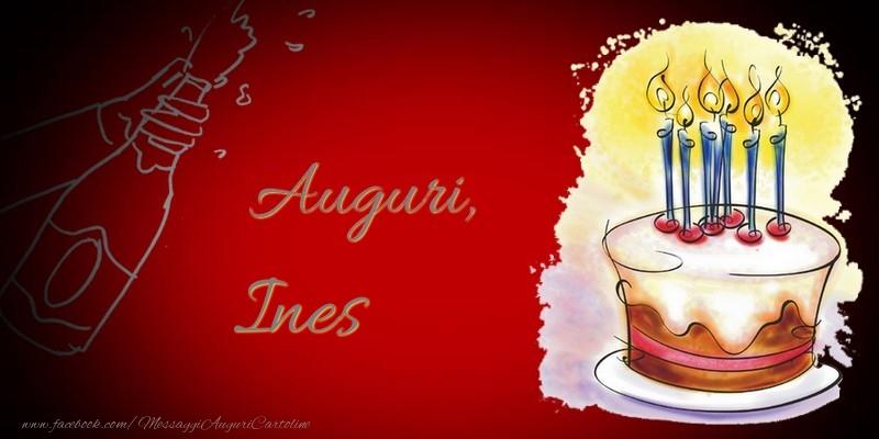 Cartoline di auguri - Auguri, Ines
