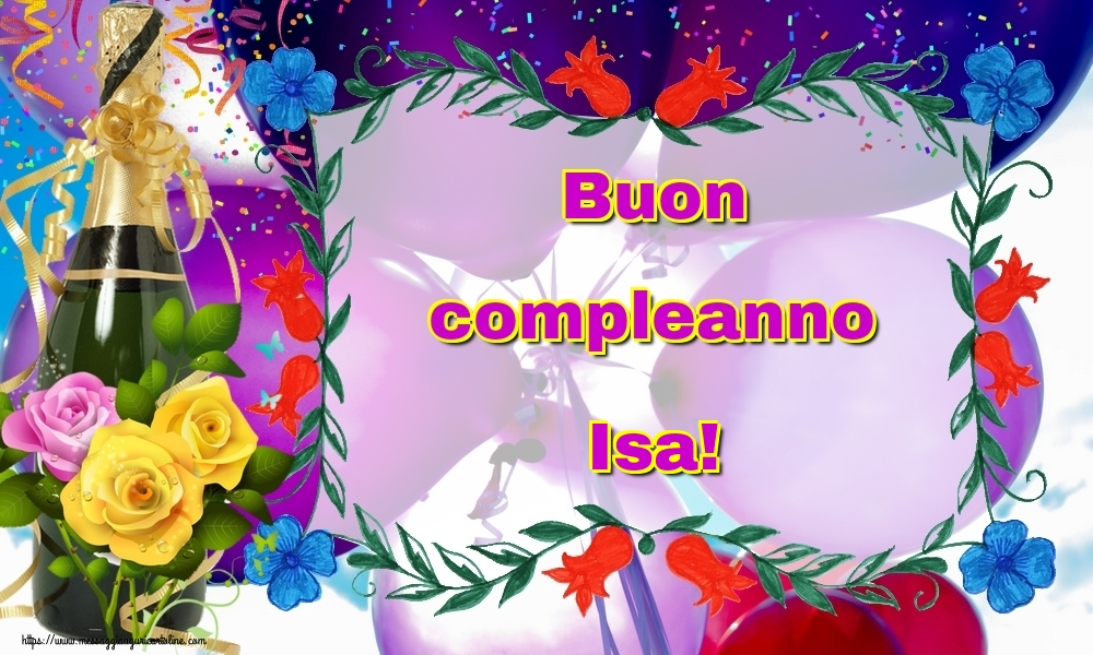 Cartoline di auguri - Buon compleanno Isa!