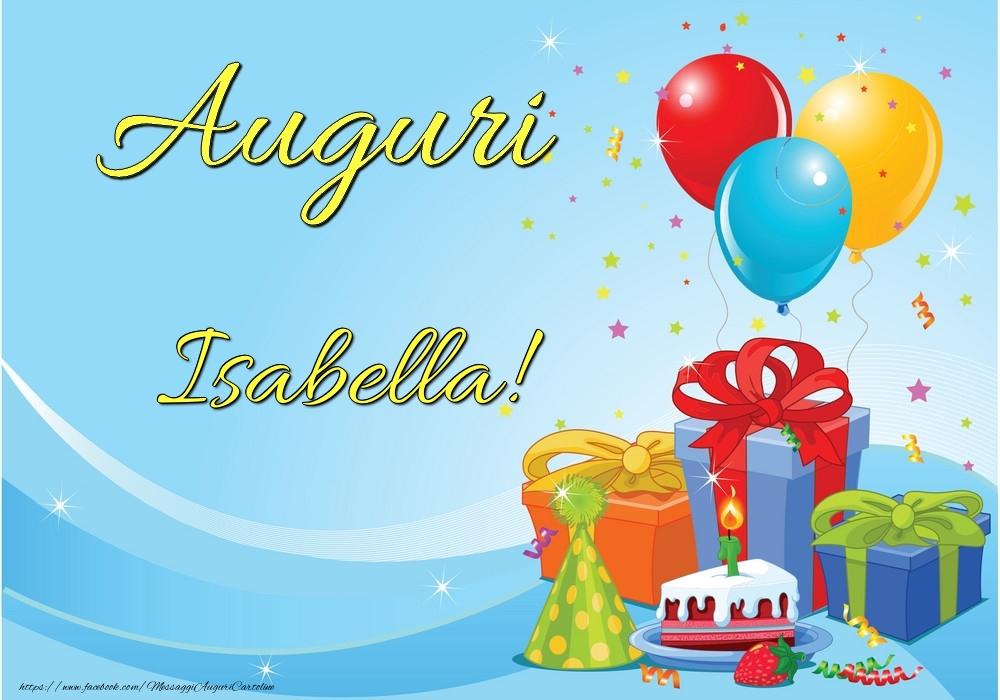 Cartoline di auguri - Auguri Isabella!