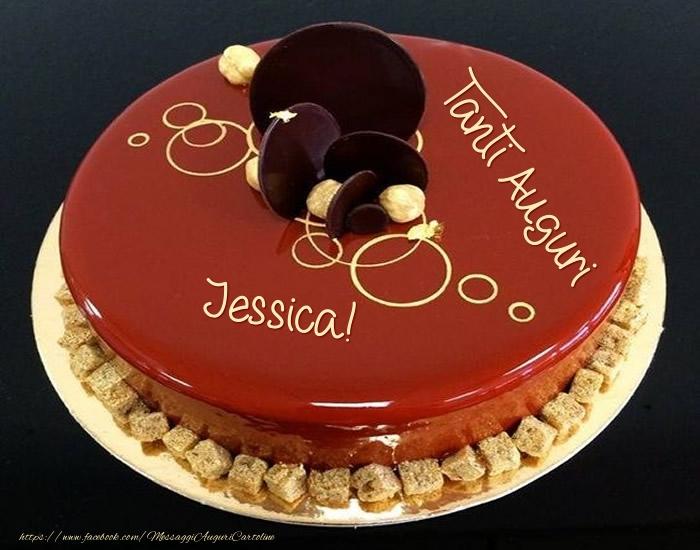 Cartoline di auguri - Tanti Auguri Jessica! - Torta