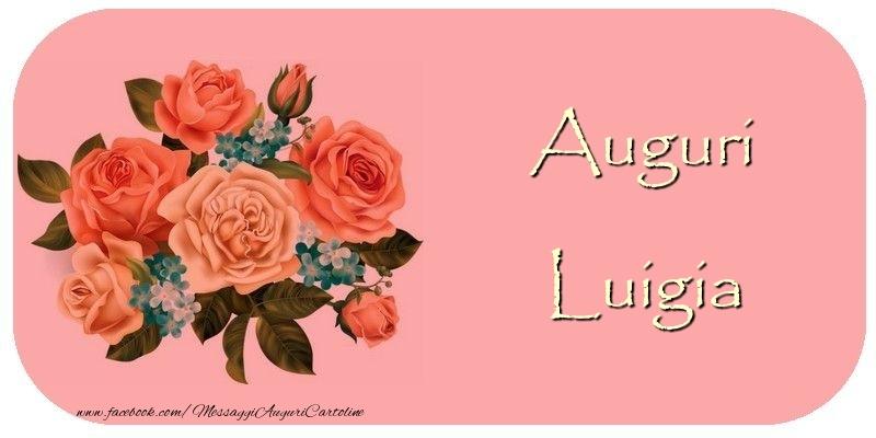Cartoline di auguri - Auguri Luigia