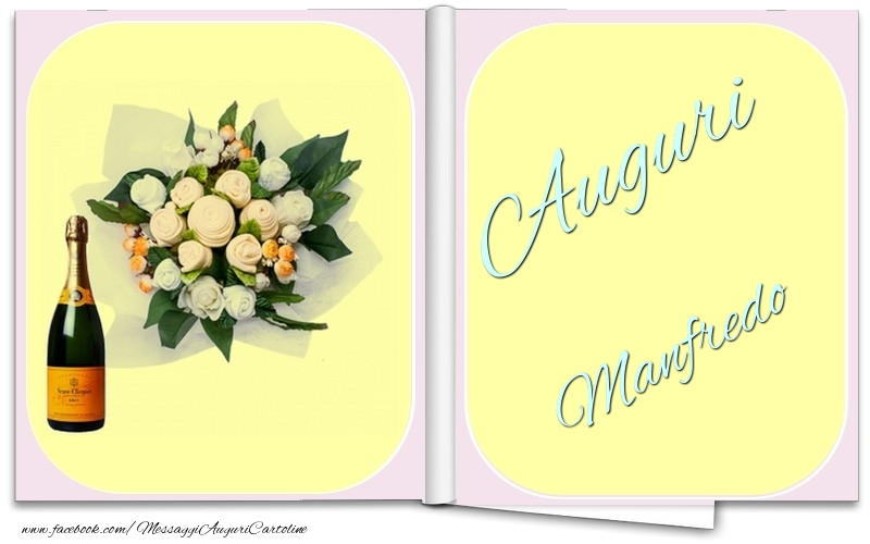 Cartoline di auguri - Auguri Manfredo