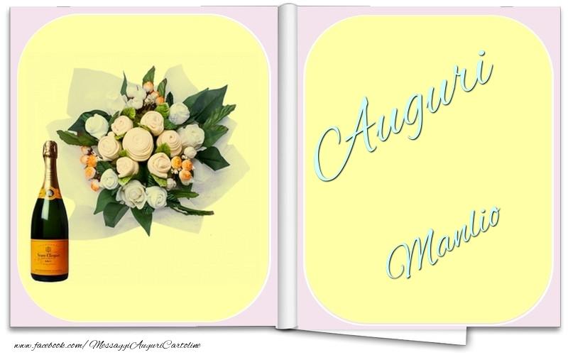 Cartoline di auguri - Auguri Manlio