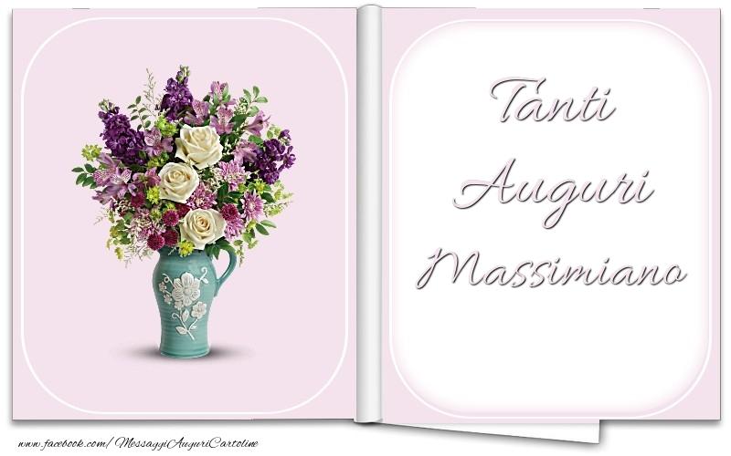Cartoline di auguri - Tanti Auguri Massimiano