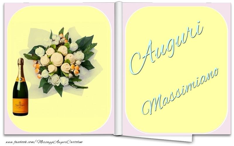 Cartoline di auguri - Auguri Massimiano