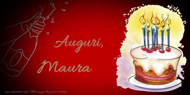 Cartoline di auguri - Auguri, Maura