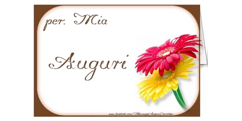 Cartoline di auguri - Auguri, Mia