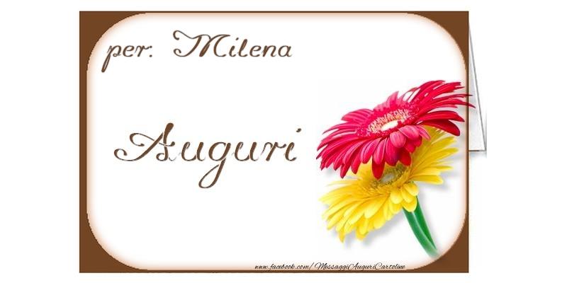 Cartoline di auguri - Auguri, Milena