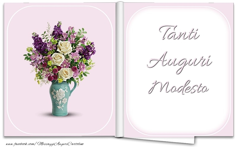Cartoline di auguri - Tanti Auguri Modesto